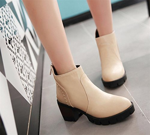 Boots Martin Mnii Round Scarpe Metri Short Moda Toe Donna Bianco Tassel dwwqCpg