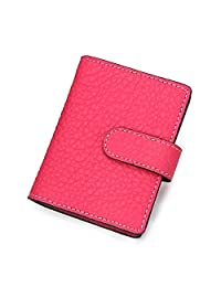 Contacts Unisex Genuine Leather Credit Card Holder with 26 Card Slots As Seen on TV