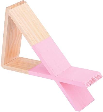 SODIAL - Estantería triangular de madera para libros ...