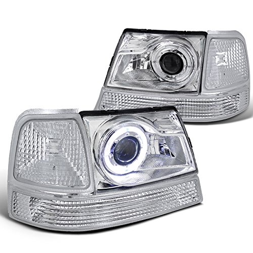 Ford Ranger Halo Projector Headlight Chrome+Corner Bumper Turn Signal Lamp Halo Headlights Bumper