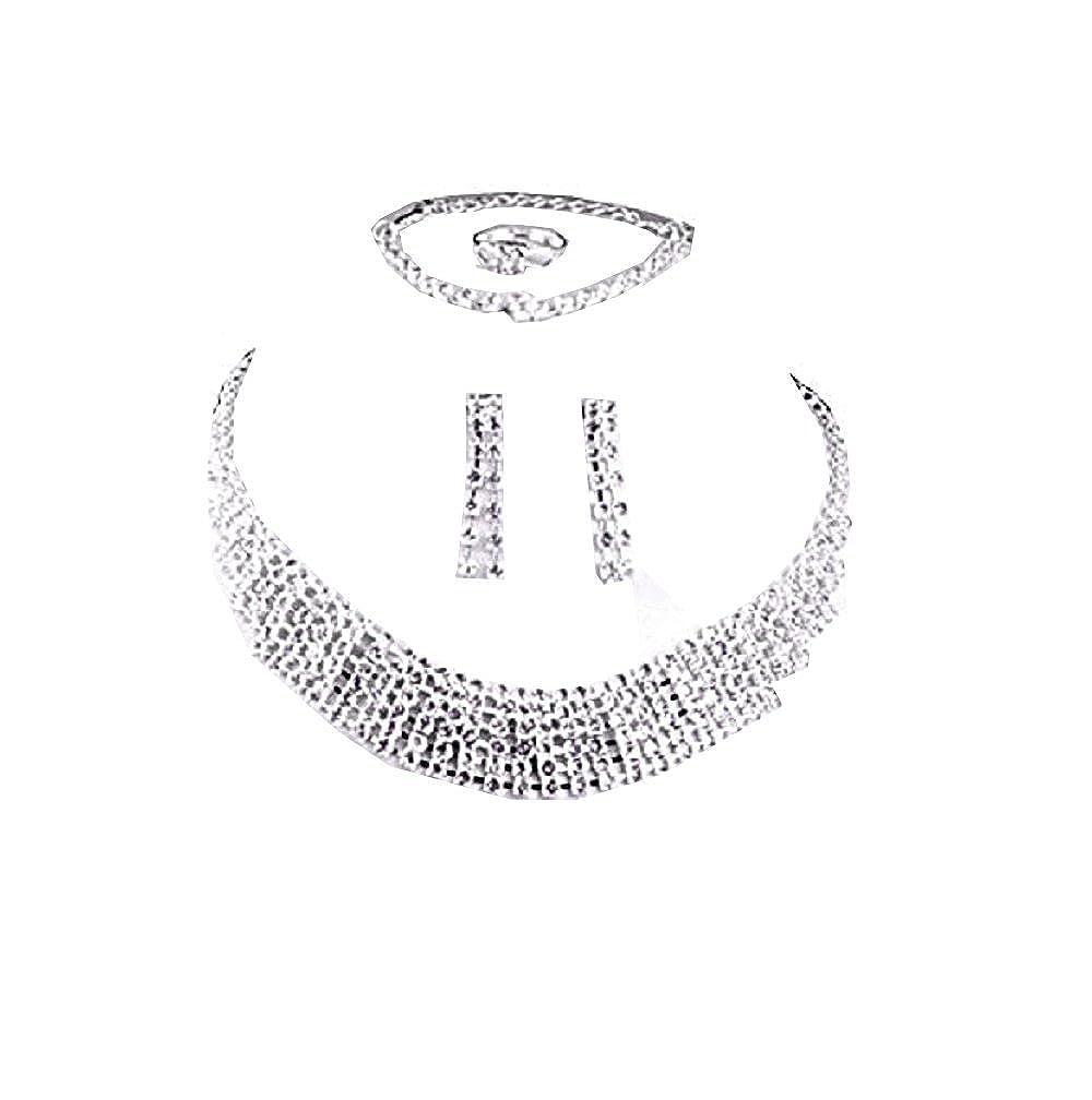 a2e98fd324ed Inception Pro Infinite Conjunto - Collar - Pendientes - Pulsera - Anillo -  Diamantes de imitación