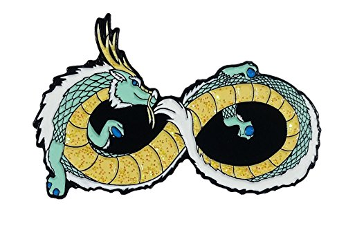 Infinite Luck Dragon, Lucky Noodle Dragon With Sparkle Belly Enamel Pin