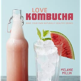 Love Kombucha: Make Your Own Naturally Healthy Drinks 7 Kombucha is a great natural, healthy and refreshing alternative to sweet carbonated soft drinks, which is easy and cheap to make at home. Learn how to make it yourself with this fantastic guide.Kombucha is made by adding a live culture to sweetened green tea. The culture consumes the tea and sugar and creates naturally sparkling kombucha. Then just add your own fruity flavourings. It requires just a little time and a suitable glass bottle – it's as easy as that.Kombucha is loaded with probiotics, organic acids, acyive enzymes, amino acids and anti-oxidants, so it's super for your gut health. It can also be used as a mixer with gin or to create your own cocktails or mocktails.With a step-by-step guide to the process, recipes for different flavours, plus ideas for cocktails and even some surprising uses you may not have thought of before, this book is essential for all those who want to try out the exciting new superfood drink that's great for your health.