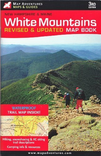 White Mountains, New Hampshire and Maine Guide Book and Map by Map Adventures - Mall Of New Hampshire Map