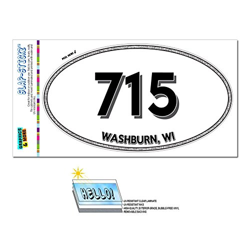 area-code-euro-oval-window-laminated-sticker-715-wisconsin-wi-radisson-waupaca-washburn