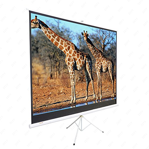 SUNCOO 100 inch HD 16:9 Portable Projector Screen Diagonal Projection Pull up Foldable Stand Tripod by SUNCOO (Image #2)