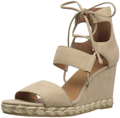 FRYE Women Roberta Ghillie Wedge Taupe
