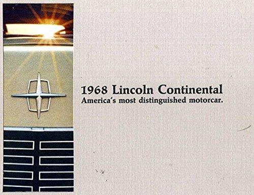 1968 Lincoln Continental sales brochure vintage original NOS MBX8