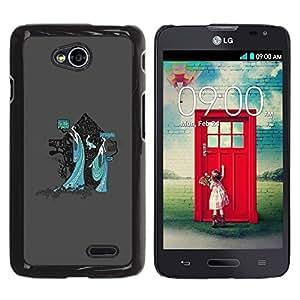 LECELL -- Funda protectora / Cubierta / Piel For LG Optimus L70 / LS620 / D325 / MS323 -- Mystical Japanese Geisha --
