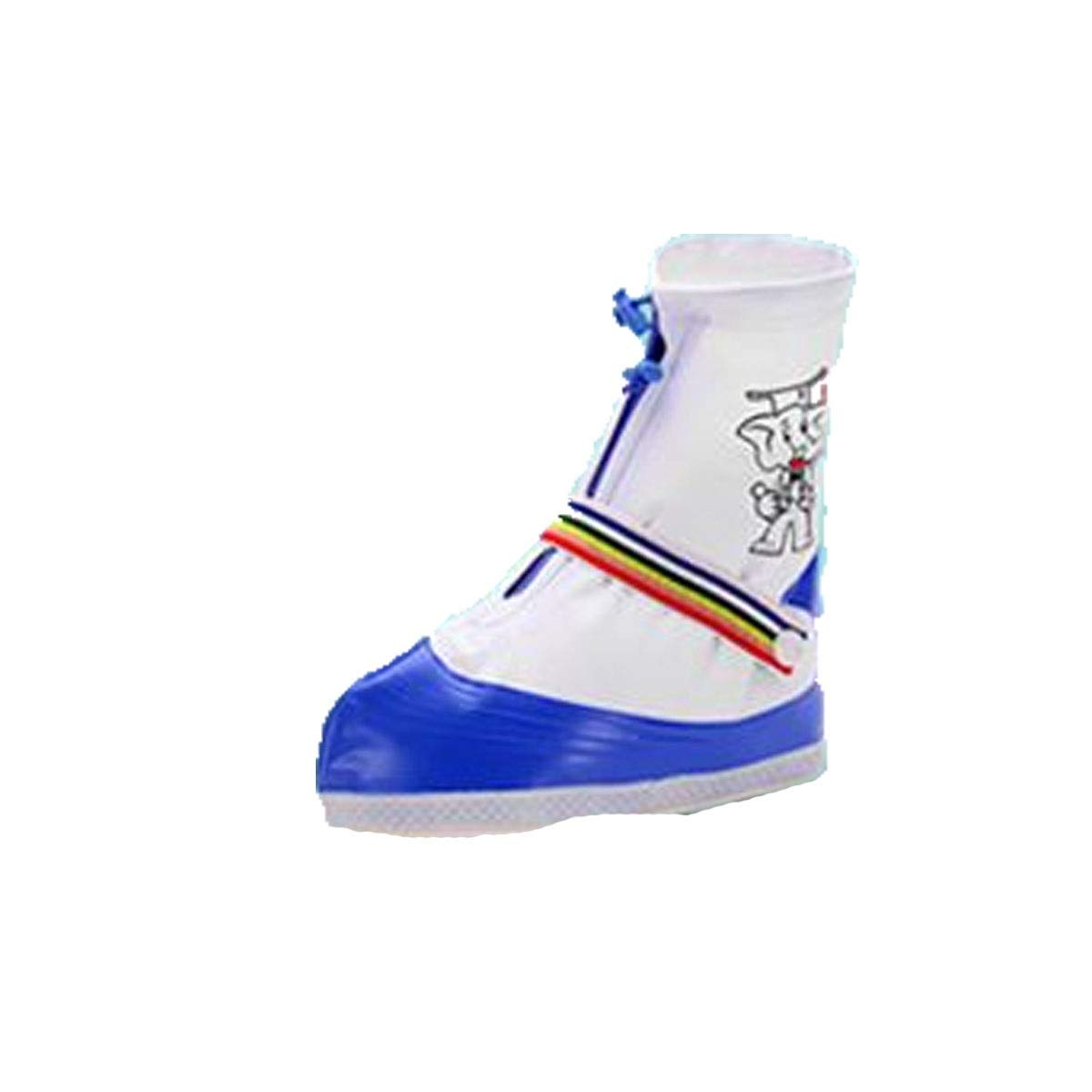 WUHUIZHENJINGXIAOBU Waterproof Shoe Cover, Rainy Student Special Thick Wear-Resistant Anti-Slip Men and Women Rain Boots, Pink, Blue, Green Shoe Covers That can be Worn on Rainy Days,