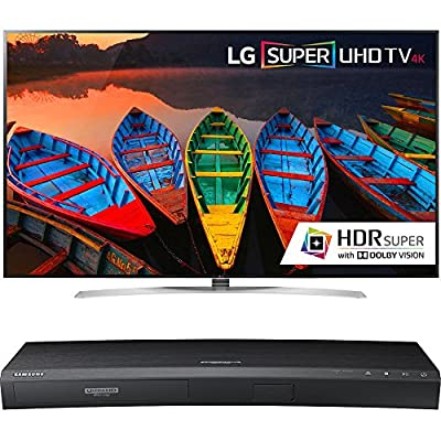 LG 65-Inch Super UHD 4K Smart TV w/ webOS 3.0 (65UH9500) with Samsung 3D Wi-Fi 4K Ultra HD Blu-ray Disc Player