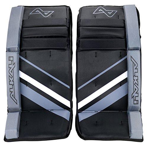 "Alkali Recon Youth Hockey Goalie Leg Pads (Black/Silver/White - 22"") -  1820012262"