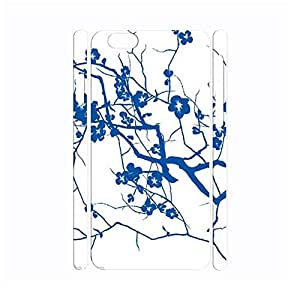 Chocolate Chinese Style White and Blue Porcelain Pattern Handmade Hard Plastic Phone Accessories Cover for Iphone 6 Case - 4.7 Inch