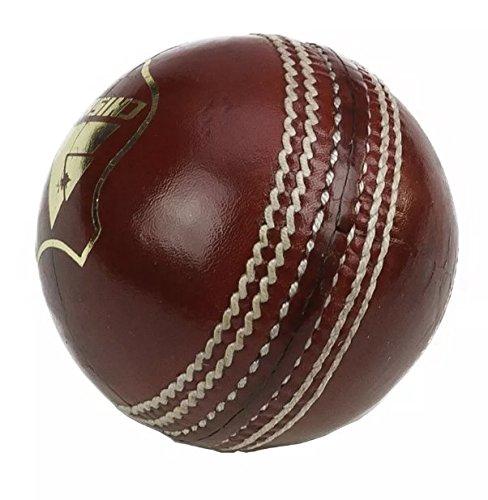 Cricket pelotas de cuero rojo altos MENS X 6tamaño de la bola 5,5OZ Chishti