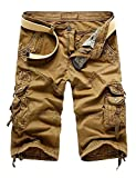 Vi-Fi Men's Work Wear Shorts Multi-Pocket (Khaki 44)