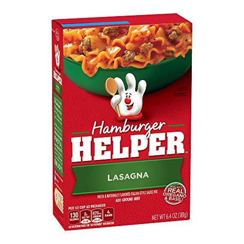 Amazon.com : Hamburger Helper, Lasagna, 6.4-Ounce Boxes (Pack of 6) : Lasagna Pasta : Grocery & Gourmet Food