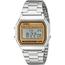 Casio Men's Quartz Metal and Stainless Steel Casual Watch, Color:Silver-Toned (Model: A158WEA-9CF)