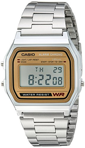 Casio Men's A158WEA-9CF Casual Classic Digital Bracelet Watch (Casio Gold Watch For Men)