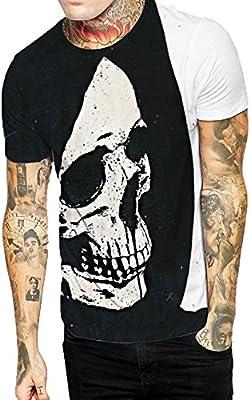 Camiseta estampado de hombre manga corta,Sonnena ❤ Chaleco informal para hombres con estampado de flores Camiseta de manga corta Blusa superior: ...