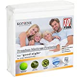 Waterproof Mattress Protector - Komene Premium Hypoallergenic Waterproof Mattress Protector Bed Breathable Cover (White, 60