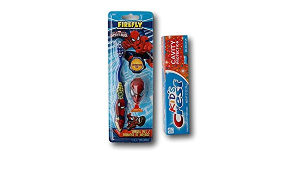 Marvel Ultimate Spider-Man Toothbrush and Tooth Paste Kit by Firefly: Amazon.es: Juguetes y juegos