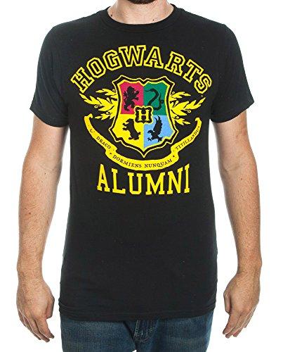 Harry Potter Hogwarts Alumni Mens Black T-shirt (Large) (Tee Alumni)