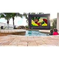 !Supreme Fully Equipped Loch IWS120-15 Foot Diagonal (View Area 120 Diagonal Rear Front 16:9) Inflatable Projection Screen - Outdoor Movies Cinema.Full Kit: Blower Stripes Included.