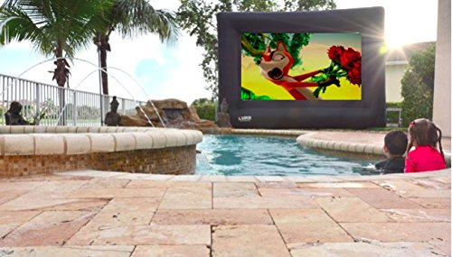 !Supreme and Fully Equipped Loch IWS120-15 Foot Diagonal (View Area 120'' Diagonal Rear and Front 16:9) Inflatable Projection Screen - Outdoor Movies Cinema.Full Kit: Blower and Stripes Included. by LOCH