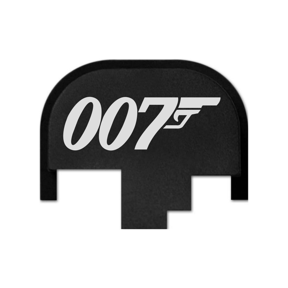 Bond 007 BASTION Laser Engraved Rear Cover Slide Back Plate forSmith /& Wesson S/&W M/&P 9mm .40 40 Cal .357 45 ACP Full Size ONLY