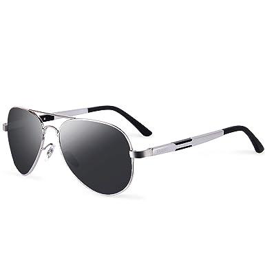 af92de12a1 FEIDU Mens Polarized Aviator Sunglasses Metal Frame Unisex Sun Glasses  FD9001 (C3