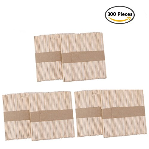 Betan Beauty Wax Applicator Sticks Wood Wax Spatulas Wood Craft Sticks for Hair Eyebrow Removal,Facial Use(300 Pieces Large)