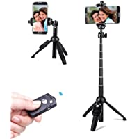 Selfie Stick Tripod,40 Inch Extendable Selfie Stick Tripod with Wireless Remote Control,Compatible with iPhone X/iPhone…