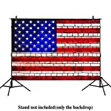 Allenjoy 7x5ft photography backdrops Brick wall soldier American Flag 4th of July independence Day banner photo studio booth Veterans Day newborn baby shower background photocall