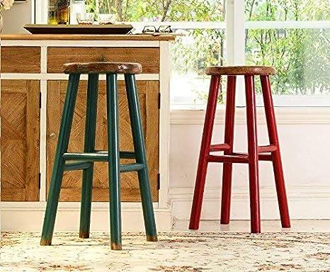 Sed sedia sgabello alto in legno da pranzo sgabello da bar
