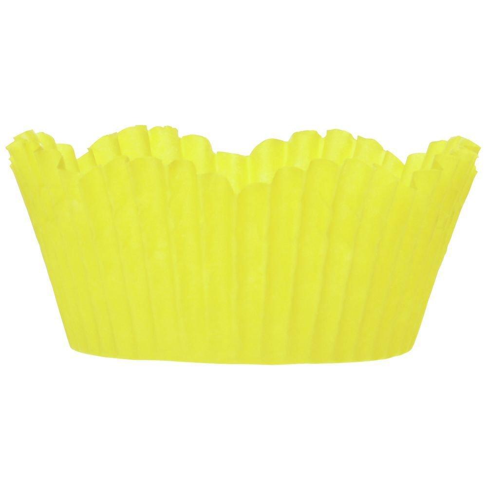 2 oz Yellow Petal Cupcake Liner Paper - 2''Dia x 1 1/4''H