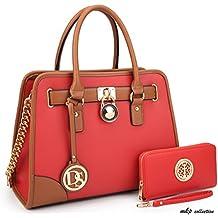 MKP Collection Fashion Woman Handbag and Wallet set~Beautiful Tote~Designer Satchel~Fashion Purse.Top handle handbag. Holiday gift for woman. Shoulder handbag(6892W)