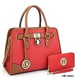 MKP Collection Fashion Woman Handbag and Wallet set~Beautiful Tote~Designer Satchel~Nice Purse (6892W)RD