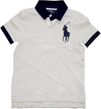 Ralph Lauren Niños Polo Camiseta de Big Pony Polo Jinete con camisa Cuello Blanco Color Azul Oscuro azul, blanco Talla:104: Amazon.es: Bebé