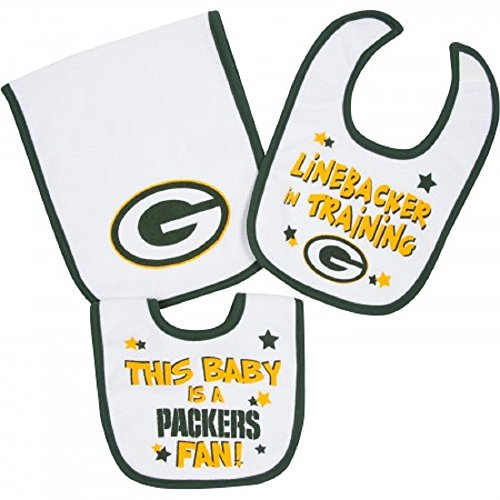 Gerber Green Packers Bibs Cloth