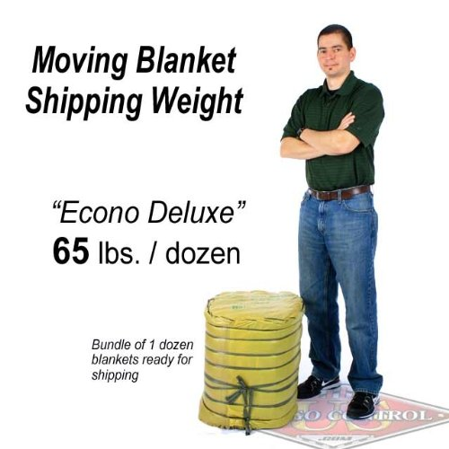 72'' X 80'' Moving Blanket (12-Pack) US Cargo Control Econo Deluxe (65 Lbs/Dozen, Black/Gray) by US Cargo Control (Image #7)