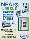 """Neato Printable Magnetic Sheets – 10 Full Sheets – 8.5"""" x 11"""" - Access To Our Online Design Studio Included"""
