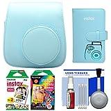 Fujifilm Groovy Camera Case for Instax Mini 8 (Blue) with 20 Twin & 10 Rainbow Prints + Photo Album + Kit