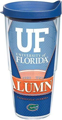 Tervis 1216497 Florida Gators Alumni Tumbler with Wrap and Blue Lid, 24 oz - Tritan, Clear