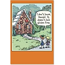 """3600 'Gluten Free Halloween' - Funny Halloween Greeting Card with 5"""" x 7"""" Envelope by NobleWorks"""