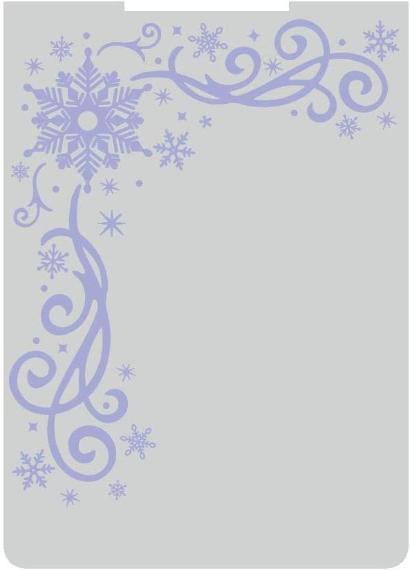 Sara Signature S-GS-EF5-TOWI Glittering Snowflakes Collection-5x7 Embossing Folder-Touch of Winter, Transparent