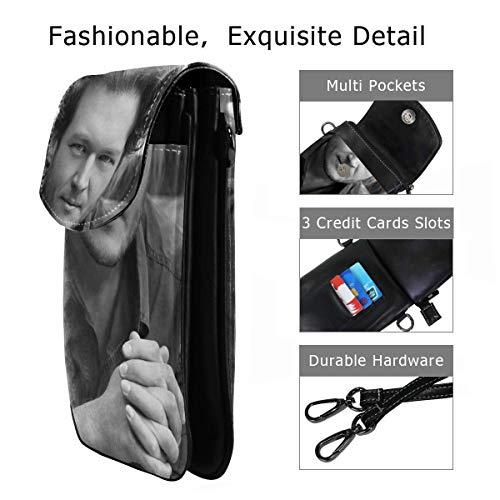 Hdadwy Mobiltelefon crossbody väska blake Shelton crossbody mobilväska mångsidig mjuk PU-läder plånbok telefonväska axelväska liten axelremsväska mini mobilväska axelväska