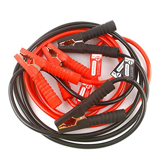 PEATOP Jumper Cables Heavy Duty 10ft 8Gauge 400AMP with Safety Gloves and Travel Bags by PEATOP