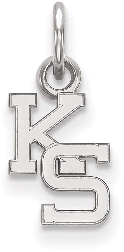 10K White Gold Kansas State University X-Small Pendant by LogoArt 1W043KSU