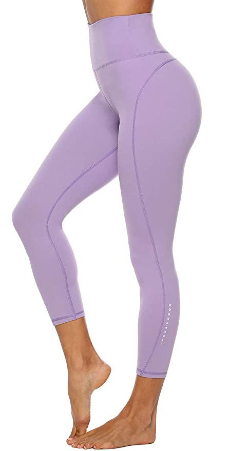 Edeey Athletic Leggings for Women Yoga Fitness Pants with 2 INNER POCKETS Non See-Through Fabric (Smoked Mulberry S) best fitness leggings