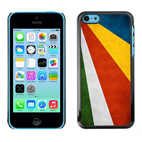 Omega Case PC Polycarbonate Cas Coque Drapeau - Apple iPhone 5C ( Seychelles Grunge Flag )